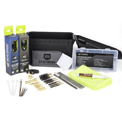 Durchbruch Gun Reinigung Kits bt-acc-u Lösungsmittel/, Öl/Fett, Stangen/brusjes/Jags, Patches/Handtuch/Wattestäbchen ect., schwarz, Munition kann