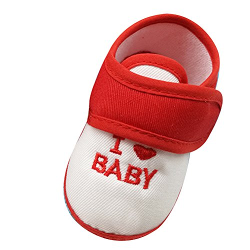 Zhuhaitf Excellent Baby Girls Boys Fashion Non-slip Shoes Toddler Soft Sole Shoes Red&White