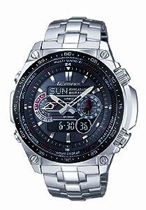 Reloj de caballero CASIO Edifice ECW-M300EDB-1AER de cuarzo, correa de acero inoxidable color plata de Casio