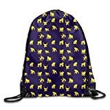 uykjuykj Drawstring Bags Gym Bag Travel Backpack, Blond Chimpanzee, Gym Equipment Bags for Women Men Adults Black 3 Lightweight Unique 17x14 IN