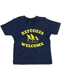 ANARCHY GRAFFITI Baby-T-Shirt gestreift navy//weiß