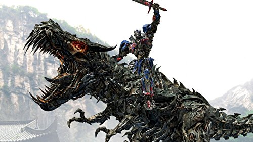 Movie Transformers Age Of Extinction Transformers Optimus Prime Grimlock Dragon ON FINE ART PAPER HD QUALITY WALLPAPER POSTER  available at amazon for Rs.190