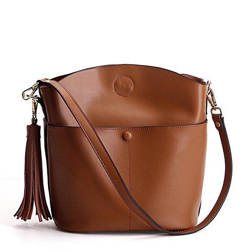 Borsa a secchiello 100-lap tempo libero borsetta borsa a tracolla messenger borsa grande-B D