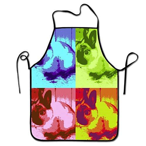 es Küchenchef-Schutzblech-abstraktes Häschen, Handelsmänner u. Frauen-Schellfisch-Schutzblech für das Kochen, Backen, in Handarbeit Machen, im Garten Arbeiten, BBQ ()