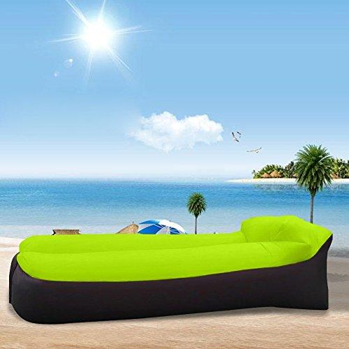 Heful Air Lounger, wasserdichtes aufblasbares Sofa mit integriertem Kissen, Aufblasbarer Sitzsack für Camping|den Strand| zum Fischen, Park, Strand, Hinterhof