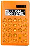 Orange–Hand Held Taschenrechner–Schule/Zuhause/Büro–Solar/Batterie–Voll funktionsfähig–8-stelliges Display