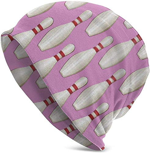 luoyanglebashang Weihnachtsmütze Bowling Pins Unisex Hut Paar Junge Männer und Frauen Pullover warme Mütze