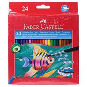 Faber - Castell Aquarelle Full Length Water Color Pencils (Pack Of 24)