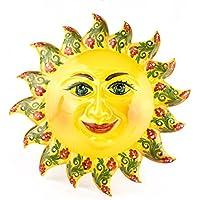 Sole murale in ceramica decorato a mano