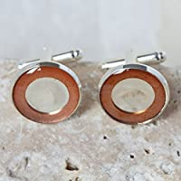 Silver Cufflinks, Silver and Copper Cufflinks, gifts for him, Copper Cufflinks, Designer Cufflinks, Cufflinks, Designer Silver Cufflinks