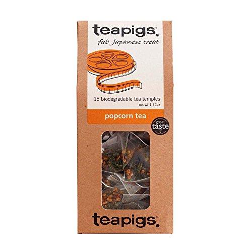 Teapigs Popcorn Tea 37.5 g (Pack of 1, Total 15 Tea Bags) (Iced Pure Tea Leaf)