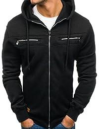 BOLF Herren Kapuzenpullover Hoodie Sweatjacke Langarmshirt Sweatshirt Zip Mix 1A1