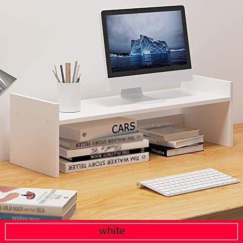 JB-Monitorständer Computerbildschirm Ständer Riser Desktop Bücherregal Laptop Rack Vergrößern Basis Desktop Tastatur Bürogeräte Aufbewahrungsorganisator (Color : White, Size : H Type) -