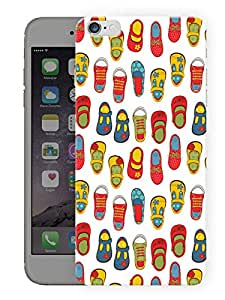"""Humor Gang Baby Girl Footwear Printed Designer Mobile Back Cover For """"Apple Iphone 6 PLUS - 6S PLUS"""" (3D, Matte Finish, Premium Quality, Protective Snap On Slim Hard Phone Case, Multi Color)"""