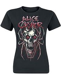 Alice Cooper Skull Spider Girl-Shirt schwarz