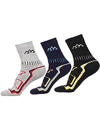 3 pares de calcetines transpirables y cálidos para hombre de COOLMAX, calcetines térmicos para deportes