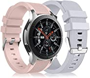 [2 Pack] Band Compatible for Samsung Galaxy Watch 3 45mm/Galaxy Watch 46mm Bands/Gear S3 Frontier, 22mm Smart