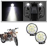 #7: Vheelocityin Black 12 LED Circle Motorcycle Light Bike Fog Lamp Light - 2 Pc For Royal Enfield Classic