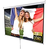 "Manual Pull Down HD Projector Screen White - Size of Screen: 203 x 203 cm (80""x80"") - Diagonal Screen Size: 289cm / 113.7"""
