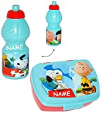 alles-meine.de GmbH 2 tlg. Set _ Lunchbox / Brotdose & Trinkflasche -  Peanuts / Snoopy  - Incl...