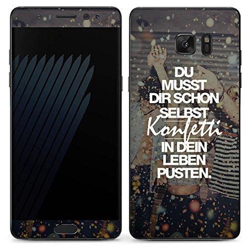 DeinDesign Samsung Galaxy Note 7 Case Skin Sticker aus Vinyl-Folie Aufkleber Sprüche Party Leben