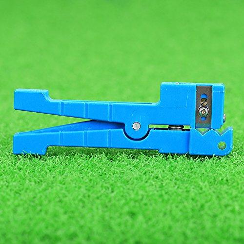45–163Kabel quer Öffnung und Abisolieren Cutter blau Buffer Tube Kabel Stripper (für Koax Anwendungen) (Cb Koax)