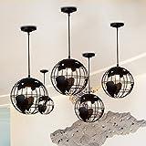 BAYCHEER 12 '' Modern Globus Pendelleuchte Kronleuchter Hängelampe für Arbeitszimmer Esszimmer Wohnzimmer Flur Speiselokal höhenverstellbar Schwarz