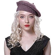 URSFUR Mujer Gorros Boina lana y Sombrero de pintor Primavera o Invierno 80a4079bed7