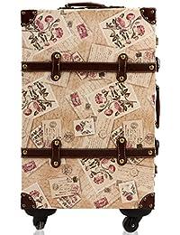 ZCJB Equipaje Retro 4 Rueda Spinner Trolley Luggage Lockbox 20 Pulgadas 24 Pulgadas Cuero Maleta Estudiantes Marea ( Tamaño : 20 inch )