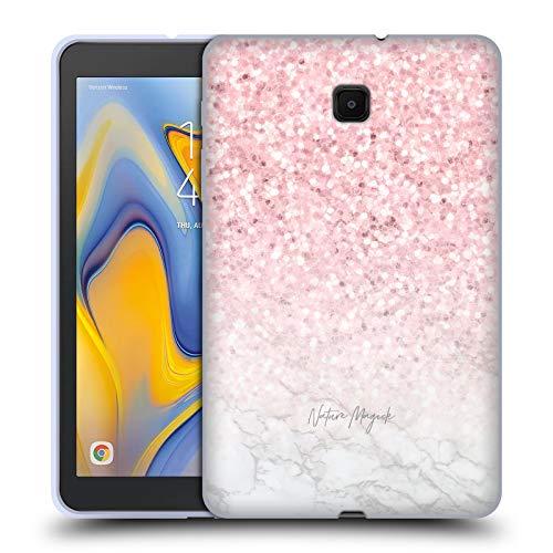 fizielle Nature Magick Pink Funkel Rosa Gold Marmor Glitzer Soft Gel Huelle kompatibel mit Galaxy Tab A 8.0 (2018) ()