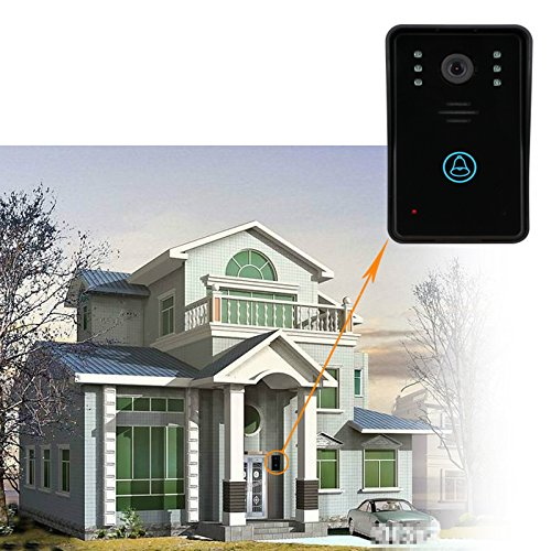 "MOUNTAINONE 7"" Video Door Phone Intercom Doorbell with 2pcs 1000TVL Outdoor Security CCTV Camera + 1pcs Indoor Monitor Home Security"