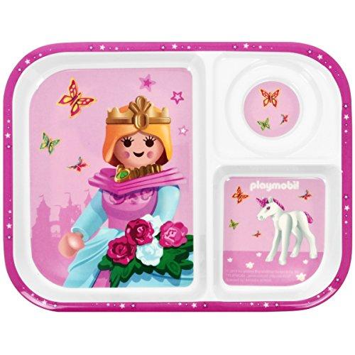 Promobo - Plateau Repas Assiette Enfant Licence Playmobil Fille Princesse