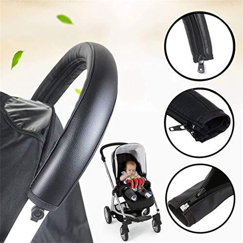 Extra Lang Schwarz Glatt Handgriff Schaum Griff Abdeckung für Kinderwagen Buggy