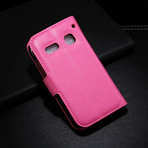 Manyip Téléphone Coque - PU Cuir rabat Wallet Housse [Porte-cartes] multi-Usage Case Coque pour Alcatel One Touch OT4033 pop C3 Classique Mode affaires Style(JFC1-7) D