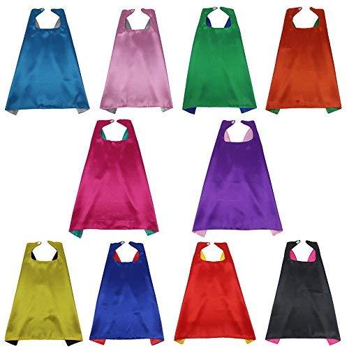 10 Stück Kinder Superhelden Umhang Verrücktes Kleid Kostüme für Jungen Mädchen Partyzubehör (Verrückte Superhelden Kostüm)