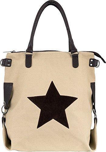 Bags4Less - F3151, Borsa a tracolla Donna Beige scuro
