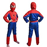 #2: Spiderman costume fancy dress outfit suit mask children (5-7 Years) (Multi Color)