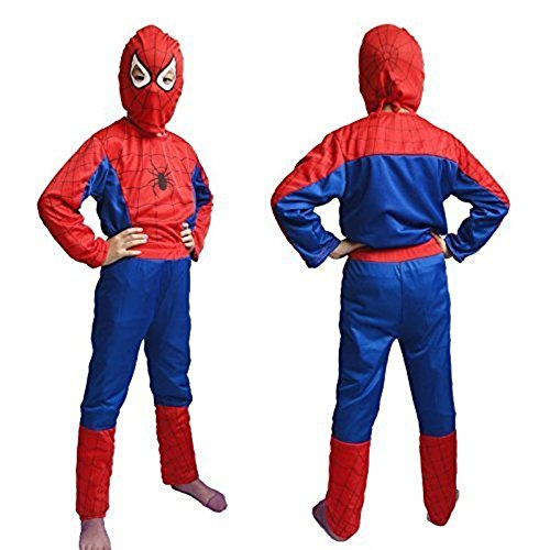 Costume fancy dress outfit suit mask children (5-7 Years) (Multi Color)