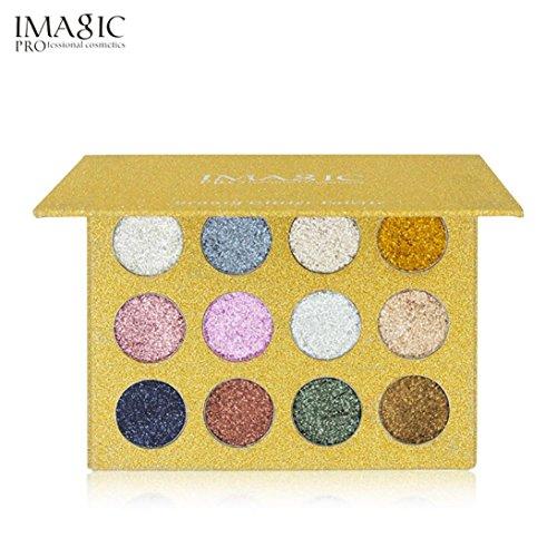 LCLrute IMAGIC Shimmer Glitter Lidschatten Pulver Palette Matte Lidschatten Kosmetik Make-up (A) (Mode-reise-accessoires)
