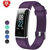 Willful Fitness Armband Herzfrequenz Smart Armband Uhr IP68 Wasserdicht Sport Fitness Tracker Pulsmesser mit Schrittzähler,Kalorienzähler,Whatsapp SMS Beachten Vibrationsalarm Multi-Sport-Tracker