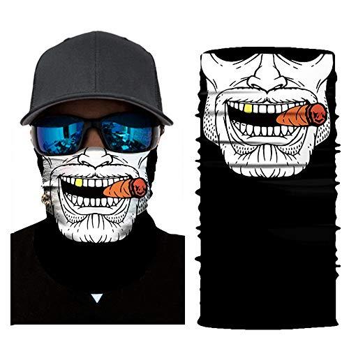 Feitb Schädel Böser Charme Maske Multifunktionstuch Schlauch Kopfschutz Gesichtsmaske Ski Radfahren Motorrad Schal Gesichtsmaske Sturmhaube Halloween Party (C)