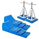 Multifunktions-Keil, Auffahr-Keil + Stützbock 2er Set für Wohnwagen oder Wohnmobil
