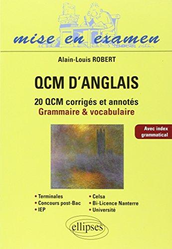 QCM d'anglais : Méthodologie et application