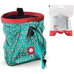 Ocun Lucky/Push - Bolsa de magnesio con Pelota y cinturón, Turkquoise