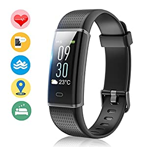 Fitness Band, MUZILI Activity Tracker with Heart Rate Monitor, IP68 Waterproof Activity Band Smart Bracelet Color Screen Sleep Monitor Fitness Tracker for Android or iOS Smartphones, Perfect for Gift