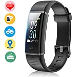 Vigorun Fitness Tracker Color Screen, Activity Tracker With Heart Rate Monitor, IP68 Waterproof Sports Smart Band With Step Counter Calorie Burned Pedometer Sleep Monitor Watch For Kids Women And Men