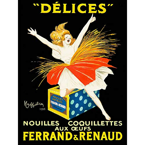 Wee Blue Coo Prints Advert Food Pasta Noodles Ferrand RENAUD Egg Dancer France Poster 30X40 cm 12X16 IN Print Werbung Essen NUDEL Tanzen Frankreich