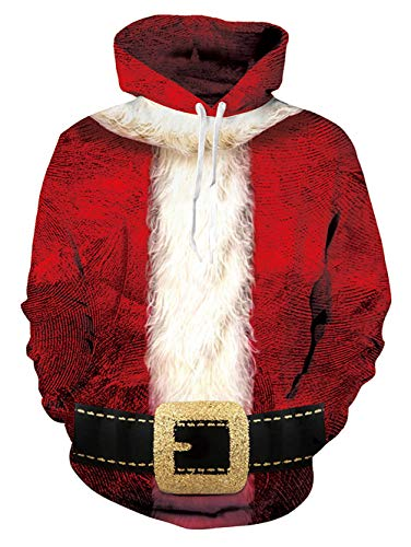 NEWISTAR Herren Unisex 3D Druck Hoodies Kapuzenpullover Langarm Galaxy Bunte Weihnachtspullover Kapuzenpull Sweatshirt Kapuzenjacke S/M Bruder Hoodie