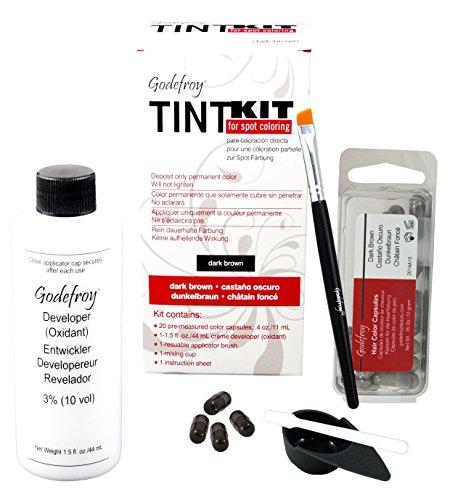 Godefroy TintKit for spot coloring, Augenbrauen,Bart- Färbeset für Profis, dunkelbraun, 1er Pack...