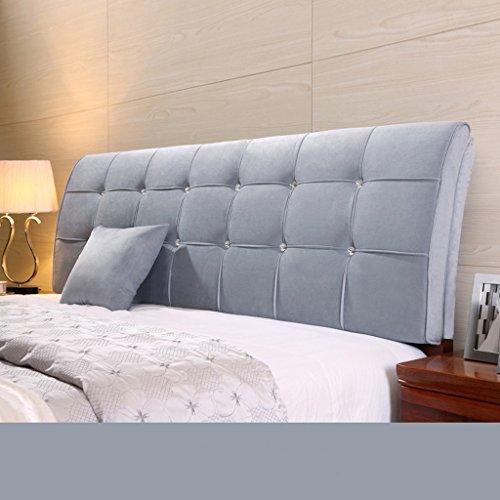 Dossier De Chevet Pure Color Bedhead Soft Protector Sac doux Double revers au couvre-oreillers Oreiller Design ergonomique Bedside Big Oreiller Lumbar 62 * 185cm (Couleur : G)